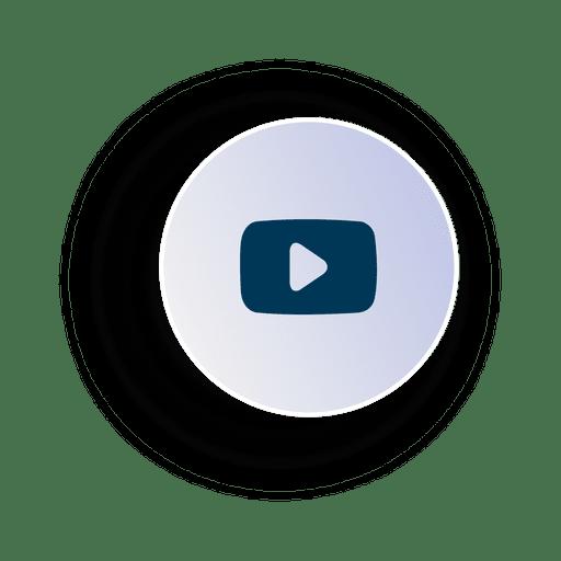 Ícone de círculo de vídeo Transparent PNG
