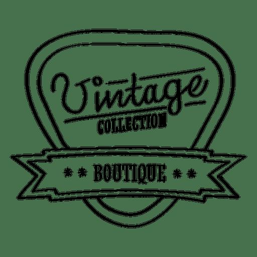 Selo de coleção boutique vintage Transparent PNG