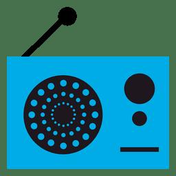 Ícone de rádio do vintage