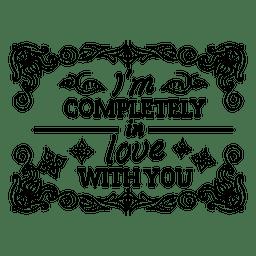 Decoración de la insignia de San Valentín vintage