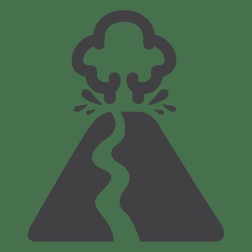 Fogo de lava do vulcão Transparent PNG