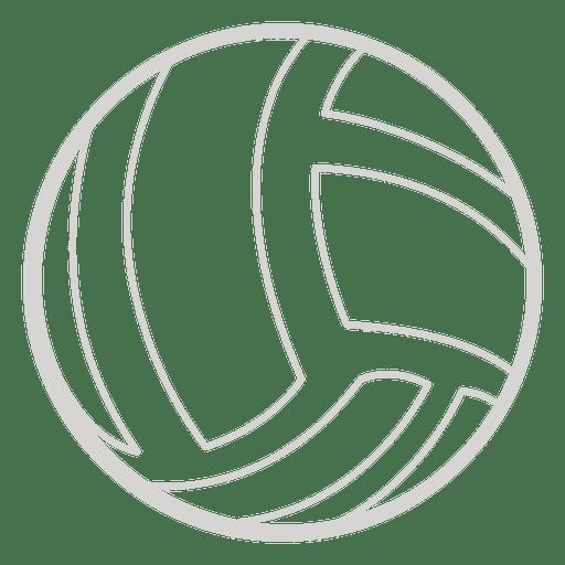Icono de voleibol Transparent PNG