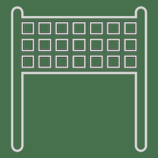 Ícone de rede de vôlei Transparent PNG