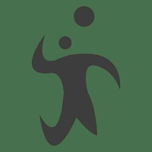 Jogador de voleibol, batendo o símbolo Transparent PNG