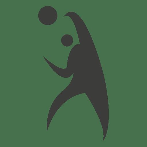 Jogador de voleibol jogando símbolo Transparent PNG
