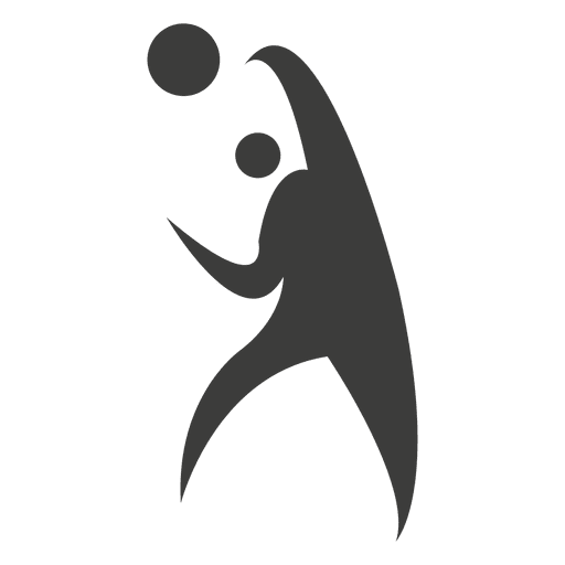 Jugador de voleibol lanzando simbolo Transparent PNG