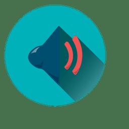 Icono de círculo de volumen