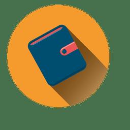Icono de círculo de billetera plana
