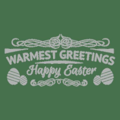 Warmest easter greeting emblem Transparent PNG