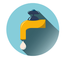 Water tap round icon