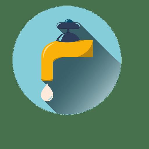 Grifo de agua icono redondo