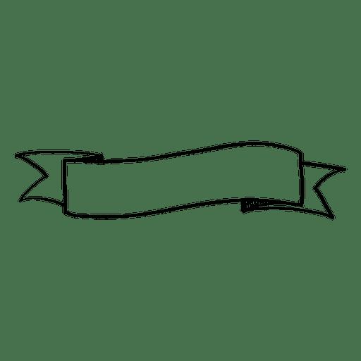 Bandeira de fita ondulada doodle Transparent PNG