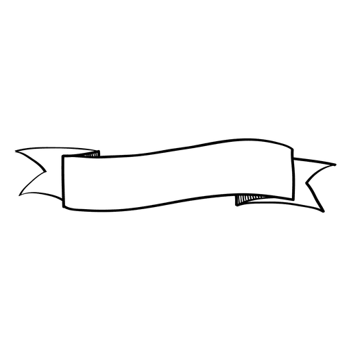 Banner de cinta ondulada doodle