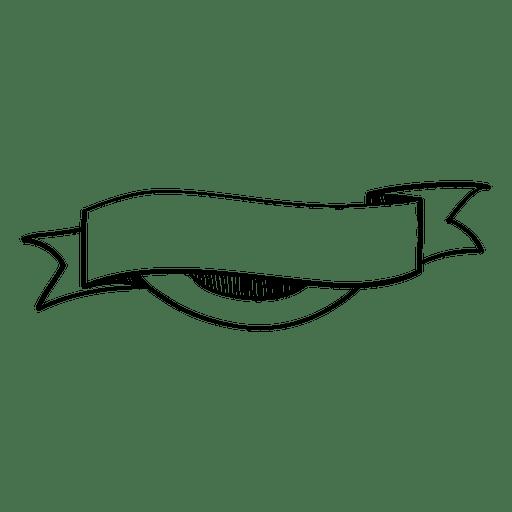 Rótulo de fita ondulada doodle Transparent PNG