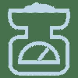 Icono de línea de escala de peso