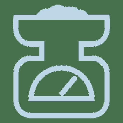 Icono de línea de escala de peso Transparent PNG