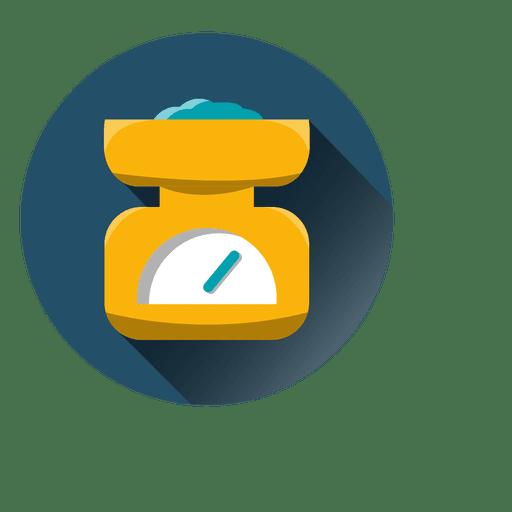 Escala de peso icono redondo Transparent PNG