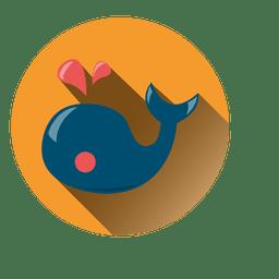 Icono de ballena redonda