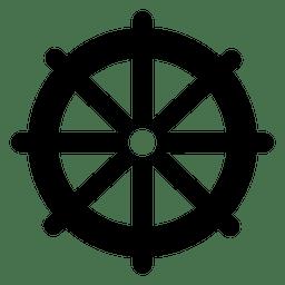 Icono de rueda plana