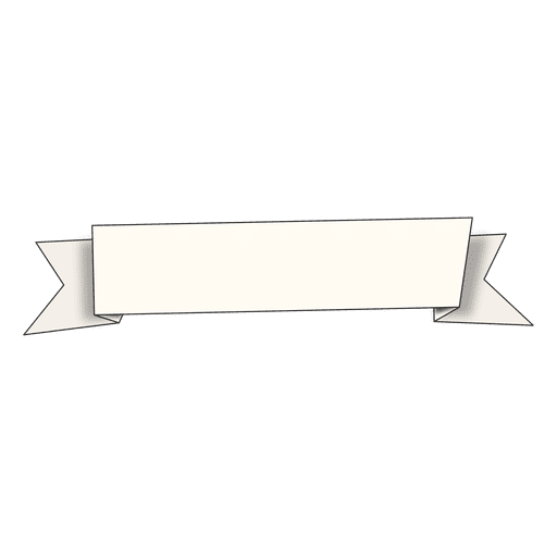 White angled ribbon Transparent PNG