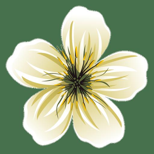 Dibujos animados de flor blanca