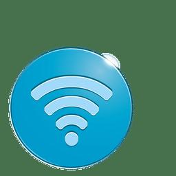Icono de burbuja wifi