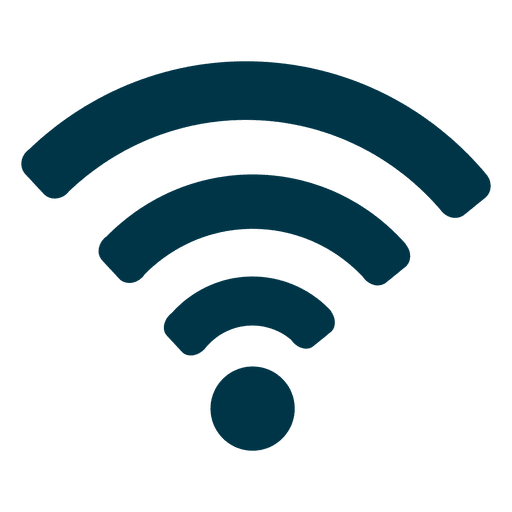 Icono de wifi plana Transparent PNG