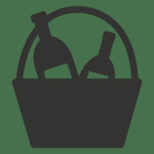 Icono de canasta de vino