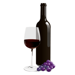 Copo de garrafa de vinho