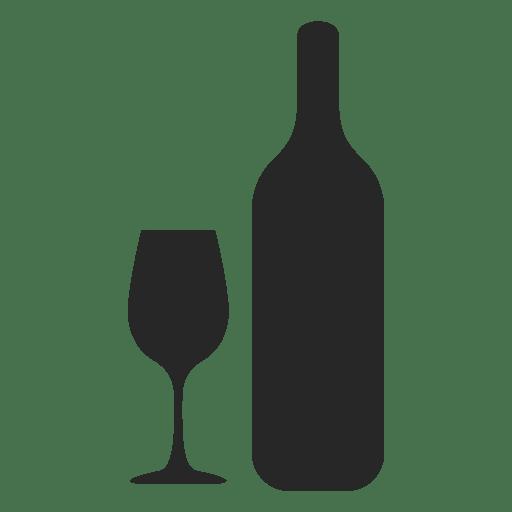 Botella de vino de cristal silueta