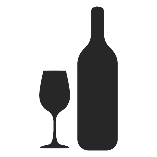 wine bottle glass silhouette transparent png svg vector