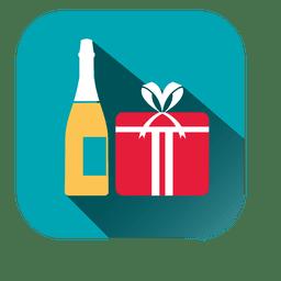 Ícone quadrado vinho giftbox