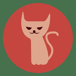 Icono de círculo de gato bruja 1