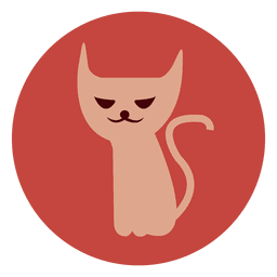 Witch cat circle icon 1