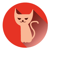 Witch cat round icon