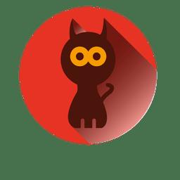 Icono redondo de gato bruja 1