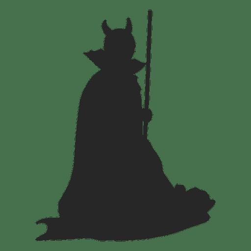 Witch costume children silhouette