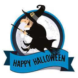 Witch halloween badge
