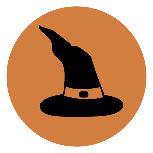 Witch hat circle icon - Transparent PNG & SVG vector file