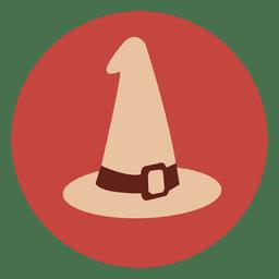 Icono de círculo de sombrero de bruja 3