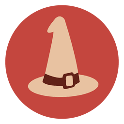 Witch hat circle icon 3