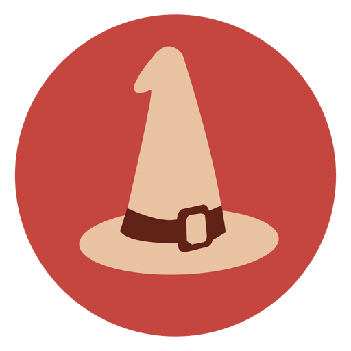 Witch hat circle icon 3 Transparent PNG