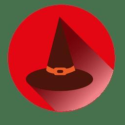 Sombrero de bruja redondo icono
