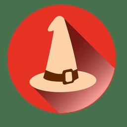 Sombrero de bruja redondo icono 1
