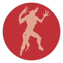 Ícone do círculo do lobo