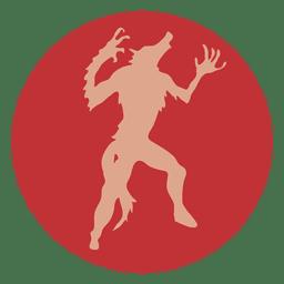 Icono de círculo de lobo