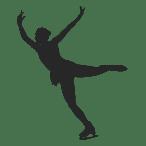 Worksheet. Mujer de patinaje sobre hielo silueta  Descargar PNGSVG transparente