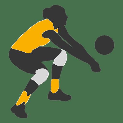 Jogador de vôlei de mulher 1 Transparent PNG