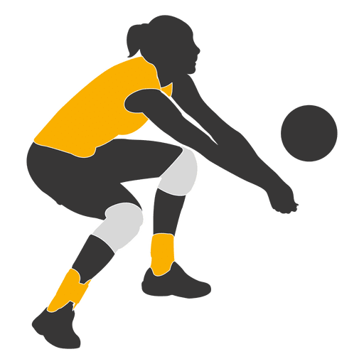 Woman volleyball player 1 - Transparent PNG & SVG vector