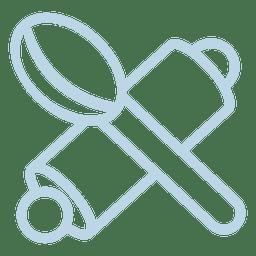 Icono de cuchara de madera bastón